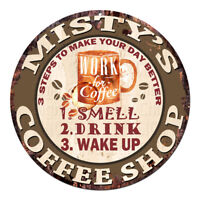 CWCS-0292 MISTY'S COFFEE SHOP Tin Sign Birthday Mother's day Gift Ideas