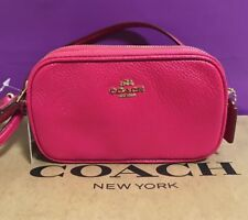 COACH PEBBLED LEATHER MINI CROSS BODY POUCH 53034