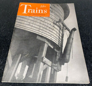 Trains Magazine November 1940 1st Issue #1 Erie's Pacific Locomotives