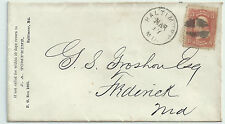 SC 88--ON ADVERTISING COVER BALTIMORE TO FREDRICK MD--50