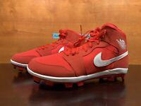 Nike Air Jordan 1 Retro MCS Mens Sz 14 University Red Baseball Cleats AV5354-601