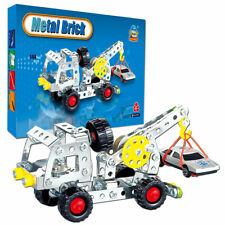 144 PCS Kids Learning Set Toys Educational Crane Engineering Building Blocks