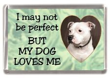 "Staffordshire Bull Terrier Fridge Magnet No4. ""I may not be perfect"" - Starprint"