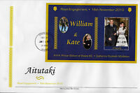 Aitutaki 2011 FDC Royal Engagement 1v Special S/S Cover Prince William Kate