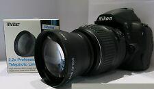 PROFESSIONAL TELEPHOTO LENS 2.2X FOR NIKON D3300 D3200 D5100 D5200 HD SHIPS FAST