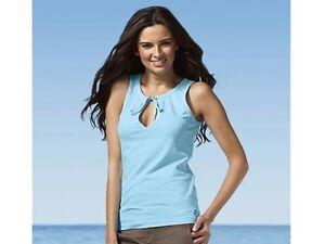 Nike Ice Blue Gym Fitness Training Sleeveless Casual T Shirt Top Small 8-10 BNWT