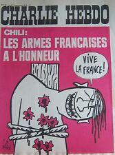 CHARLIE HEBDO No 149 SEPTEMBRE 1973 GEBE  CHILI LES ARMES FRANCAISES A L HONNEUR