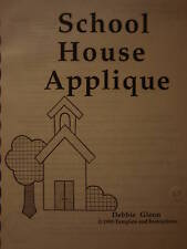 """Patchwork Applique Embroidery """"School House"""" Design Instructions Love & Stitches"""