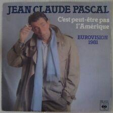 Jean-Claude Pascal 45 Tours Eurovision 1981