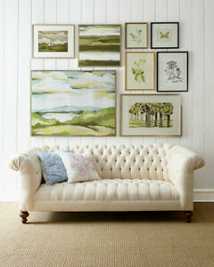 """Old Hickory Tannery Ellsworth Neutral Tufted Sofa 84"""" $3799"""