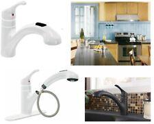 Moen Renzo Matte Black 1-Handle Deck-Mount Pull-Out Handle Kitchen Faucet