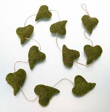 Moss Heart Rustic Wedding Bridal Shower Garland Party Decor Grass Decoration