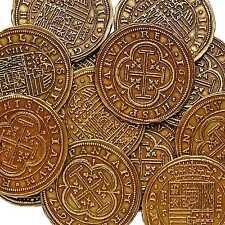 Moneda de color oro 100 escudos Piratas Tesoro Armada Española moneda G73