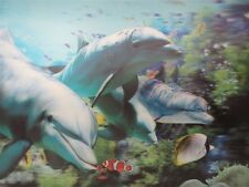 Poster Print 3d picture of an open mouth shark in the ocean, great for Home F020