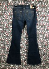 TRUE RELIGION Brand Jeans Womens Carrie Low Stretch Flare Blue Jeans Sz 26 NWOT