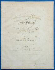 CARL MARIA VON WEBER RONDO BRILLANT PARTITION INVITATION POUR LA VALSE Op65 1831