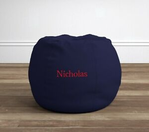 Pottery Barn Kids Navy Anywhere Beanbag Slipcover Only  No Monogram  NWT
