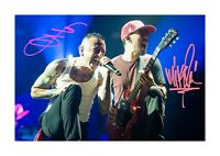 Chester Bennington & Mike Shinoda (1) A4 signed poster. Choice of frame