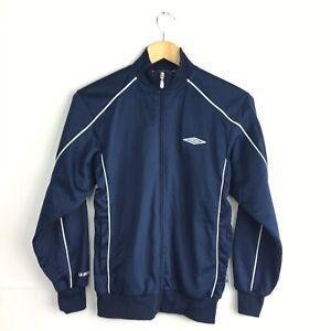 "Umbro Navy Blue Zip Up Track Jacket Large Boys 35"" Chest Streetwear Retro Vyg"