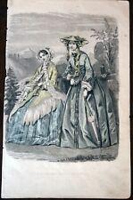 Antique Book Illustration #607 - Les Modes Parisiennes, Illman & Sons c. 1851