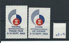 wbc. - CINDERELLA/POSTER - CF14 - EUROPE - VIENNA INT TRADE FAIR - 1968