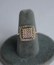 14 KT GOLD LADIES DIAMOND RING 44- 1.5 M.M. DIAMONDS APPROXIMATE 3/4 CT T.W.