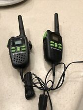 Motorola 2 Pk Hunting Hands Free Walkie Talkies Ptt Two Way Radios