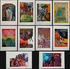 "Warrington colescott Folio (10 Etchings) ""LA MORTE A VENEZIA"" l/e firmato dall'artista"