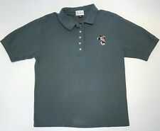 Vintage Walt Disney World Women's Polo Shirt Sz Medium Minnie Slate Blue Golf