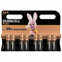 DURACELL Lot de 8 piles Plus Power AA