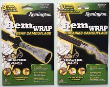 Remington Wrap Gun/Rifle/Gear Camouflage/Camo Tape Sheets - RealTree APS SNOW