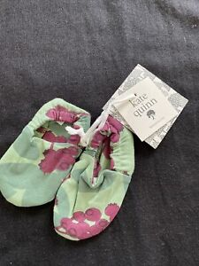 Kate Quinn NWT Huckleberry Leaf Bamboo Booties-3-6 Months