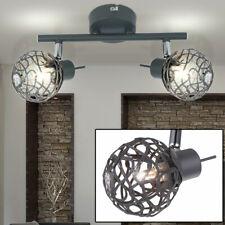 Decken Alu Kugel Spot Leiste Licht Schiene bewegliche Strahler Esstisch Lampe