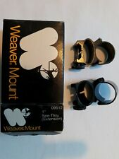 Weaver 1 In See Thru Extension Scope Rings 09512 New