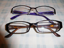 2 XOXO Purple Tortoise Brown Eyeglasses Eyeglass Sunglasses Frame Rectangular