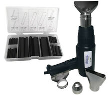 Heat Gun Bundle Offer - Heat Gun & Nozzles with 127pc Black Heat Shrink Tubing