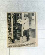 1921 Milk Poured Through Tube In The Door Into Jug London Suburbs