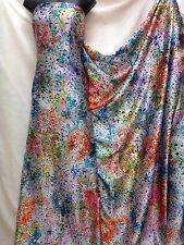 Designer Raso Morbido Stampa Multicolore vestito tessuto artigianale