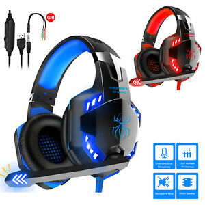 Pro Gaming Headset W/ Mic XBOX One PS4 PS5 PC Headphones Microphone Bass