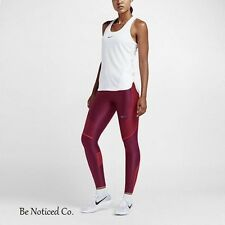 Nike Power Speed Women's Running Tights S Red Gym Training Yoga New