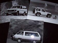 TOYOTA Land Cruiser Super GL PRESS PACK PHOTOS 1987 Frankfurt IAA Prospekt MINT