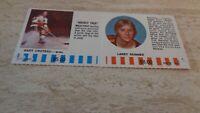 1976-77 Colorado Rockies NHL Hockey Puck Buck 2 Card Panel Croteau / Skinner EX