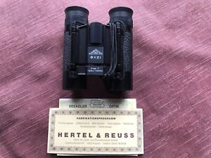 Hertel & Reuss Binoculars 8x21 Compact Cased Boxed High Quality Rare Collectable