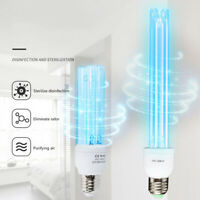 20w e27 uv sterilizer household lamp disinfection tube uvc ozone quartz bulb