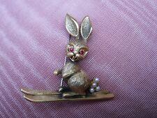 Vintage Tortolani Ski Bunny Brooch