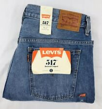 $198 Levis 517 Cropped Boot Cut Jeans Mind Eraser High Rise Orange Tab sz 32 nwt