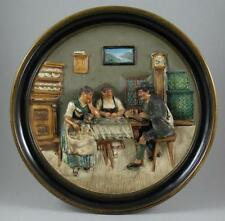 European Date-Lined Ceramic Wall Plaques