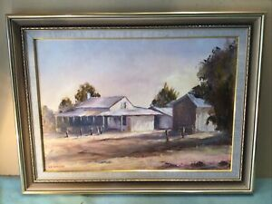 ( A N Weaver ? ) Country House Framed Oil Painting