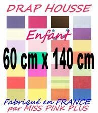 DRAP HOUSSE bébé 60x140 Bonnet 20 cm UNI 60 x 140 / 15 COLORIS au choix