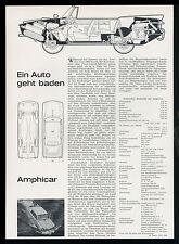 Original Artikel von 1963 AMPHICAR Wasserfahrzeug Amphibienauto